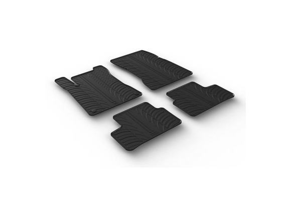 Tappetino bagagliaio tappeto nero tessitura gekettelt PER CLASSE B w247 NUOVO